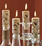 Tag 710384 Wine Cork Candles (Set of 4), 2.88 x 1.13'', Natural