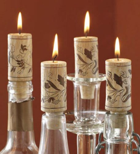 Set Candle Wine Cork (Tag 710384 Wine Cork Candles (Set of 4), 2.88 x 1.13