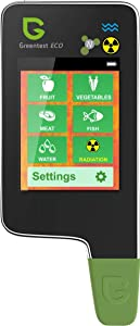 6 in 1 Greentest eco 5 Digital Food Nitrate Tester, High Accuracy Radiation Detector Geiger Counter Water Quality Meter TDS Hardness PPM Analyzer Dosimeter for Vegetable, Fruit, Meat, Fish, Water