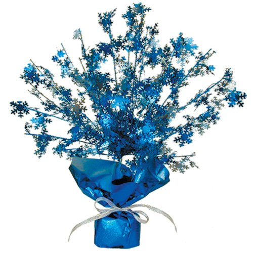 Beistle 20806 1-Pack Snowflake Gleam 'N Burst Centerpiece, 15-Inch
