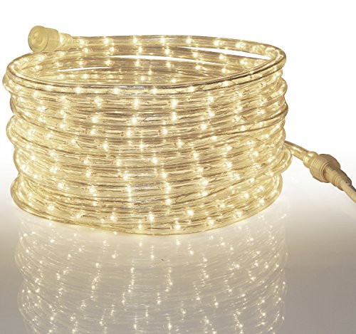 Tupkee LED Rope Light WARM-WHITE - for Indoor and Outdoor us
