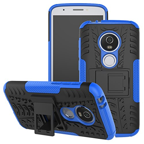 Moto E5 Play Case, Moto E5 Cruise case, Viodolge [Shockproof] Rugged Dual Layer Protective Phone Case Cover with Kickstand for Motorola Moto E5 Play XT1921 2018 (Blue)