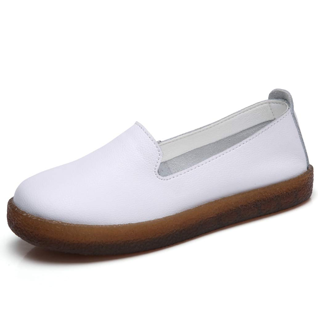 York Zhu Round Toe Women Flats Shoes Female Fall Ladies Casual Comfortable Soft Shoes