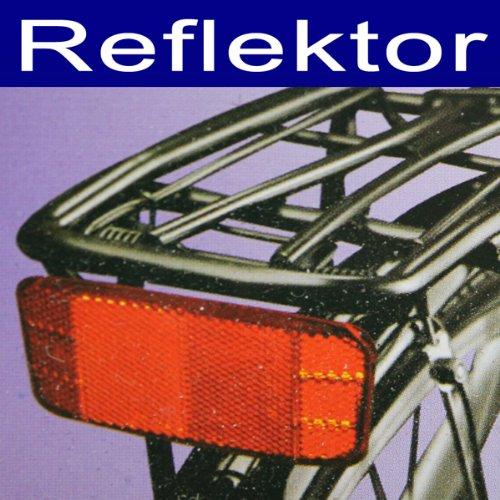 Reflektor, Fahrrad Schutz Gepäckträger Rückstrahler Reflektor Reflektoren, rot (LHS)