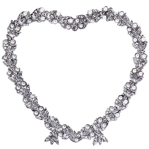 Olivia Riegel Contessa Heart 3-1/2-Inch - Frames Clear Crystal Signatures Picture