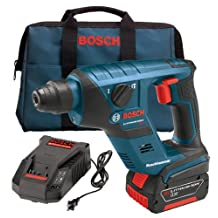 Bosch RHS181K 18-Volt Lithium-Ion 1/2-inch Compact Rotary Hammer with Brushless Motor Technology - Includes High Capacity Battery, Charger and Case