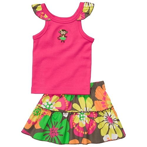 Carter's Sleeveless Top and Skort Set - Pink - 24 Months