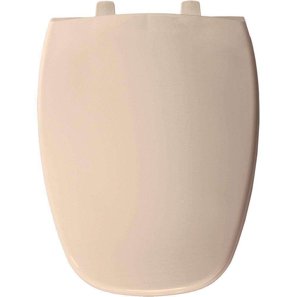 Bemis 1240205036 Eljer Emblem Plastic Elongated Toilet Seat, Natural