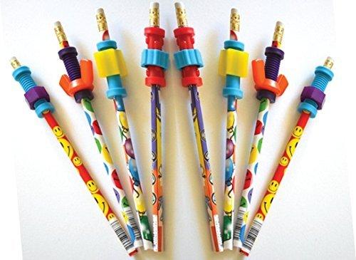 Finger Fidget Pencils with Fidget Toppers -Set of 8 Pencils with Fidgets - Pencil Fidgets from Express -