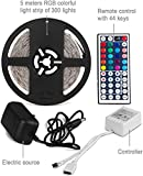 GPCT [Waterproof] Bright LED String Lights W/ Low Power Consumption. 20 Diff. Color Options/5 Diff. Light Patterns, Speed/Remote Control- Bedroom/Patio/Home/Garden/Wedding/Restaurant/Party/Decoration