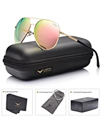 LUENX Aviator Sunglasses Polarized Mens Womens with Case - UV 400 Protection 60mm