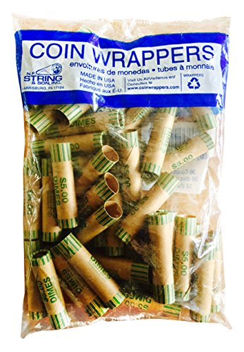 N. F. String and Son 1043 Bag of Crimped End Dime Wrappers, 36 Count
