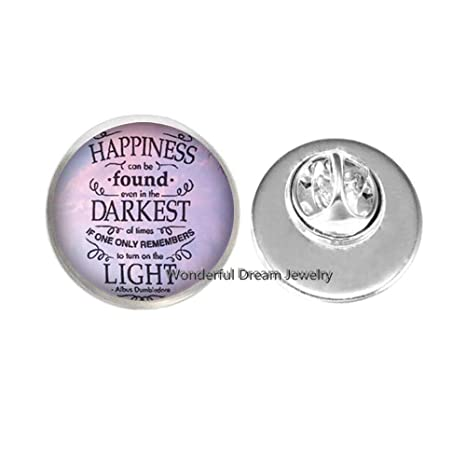 Amazon Happiness Can Be Found Quote Pin & Brooch