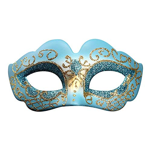 Party Masks - Party Masks Halloween Decoration Masquerade Mask Female Painted Princess Dance Dress Up - Gold Dinosaur Stick Over Children Adult Kids Black Glasses Women Masquerade Animal Bund -