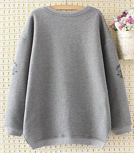 Gery Pullover Women's M Round amp;S Sweatshirt Sleeve Long Neck amp;W Ugzv0qw