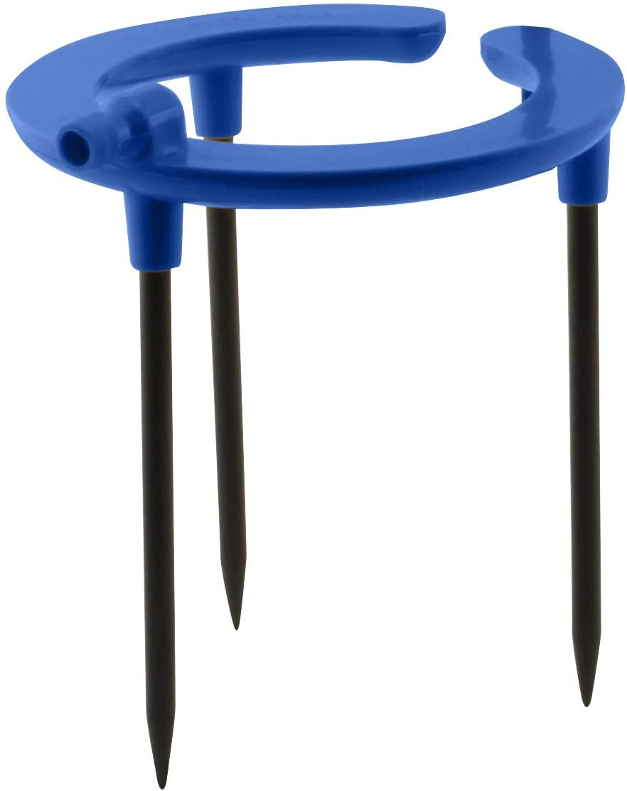 """HYDROFLOW HGC748086 Irrigation Fitting Rain Ring Drip Emitter, Use With All Growing Media, Strategically Placed Distribution Holes Position At Ideal Plant Height, 6"""" Diameter, 1/2"""" Inlet, Blue"""