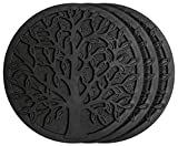 Cheap HF by LT Rubber Tree Garden Stepping Stone, 11-3/4″, Black, Set of 3