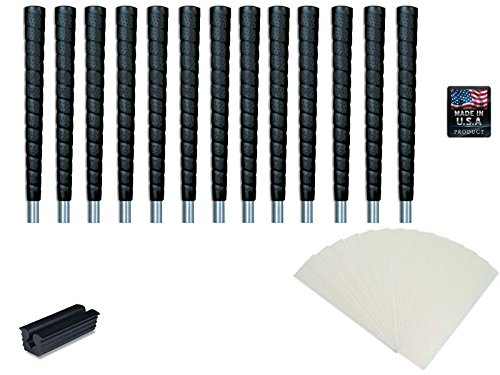 Tacki-Mac Jumbo Size Pro Wrap Golf Grip Kit (13 grips, tape, vise clamp, (Jumbo Wrap Around)