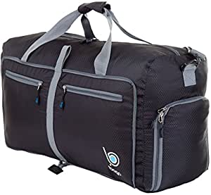 "Bago Travel Duffle Bag For Women & Men - Foldable Duffel Bag For Luggage Gym Sports (Medium 23"", Black)"