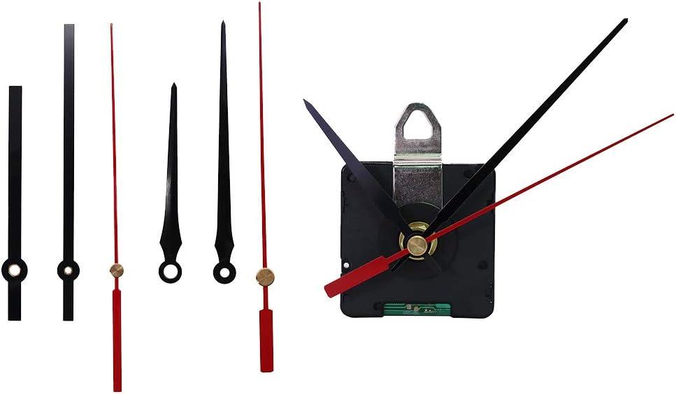 Bonarty Sprungsekunde Funkuhrwerk 14mm Wellenl/änge Funkuhr Mit Elektrischer Steuerung Quarz Wanduhr Uhrwerk Antriebe
