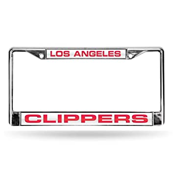 Amazon.com : NBA Clippers Laser Chrome Frame - White Background With ...