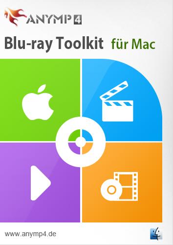 AnyMP4 Blu-ray Toolkit für Mac - Ein Alleskönner für die Wiedergabe der Blu-ray Disk und die Konvertierung der Videos/Blu-rays/Musik [Download]