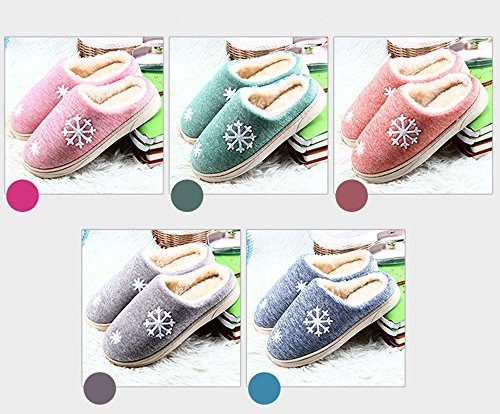 Home Flat Winter Unisex Slippers Eagsouni Plush Shoes Soft Flat Pink Slip Women Back Couples Slippers Men Women Cotton Open On Warm wI6qgT