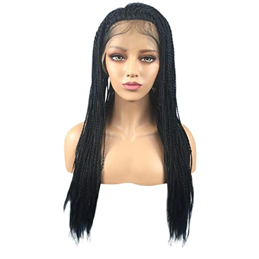 Amazon.com  Inkach - Braided Lace Front Wig 28e8981cc