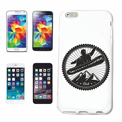 "cas de téléphone iPhone 7+ Plus ""SILHOUETTE SNOWBOARD SNOWBOARD RIDER SNOWBOARDER WINTER SPORT PISTES"" Hard Case Cover Téléphone Covers Smart Cover pour Apple iPhone en blanc"