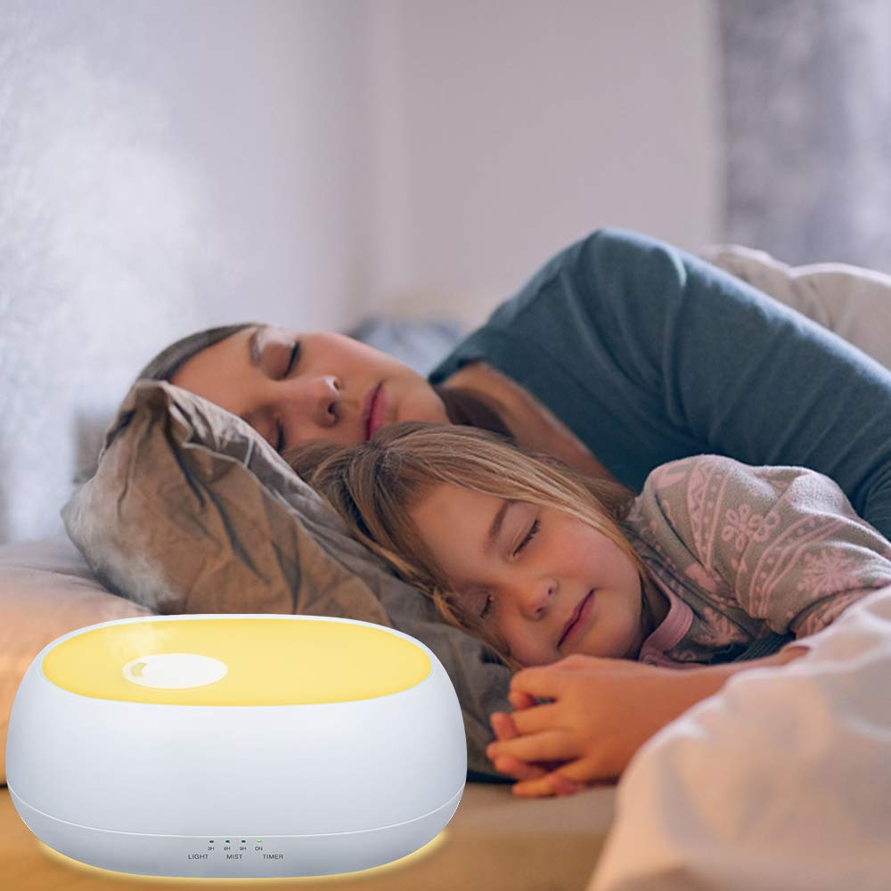 MADETEC Cool Mist Humidifier 1L Ultrasonic Humidifiers Diffuser for Baby, Bedroom, Office with 7 Night Light,Adjustable Mist Levels, Timer, Waterless Auto Shut-Off (1L)