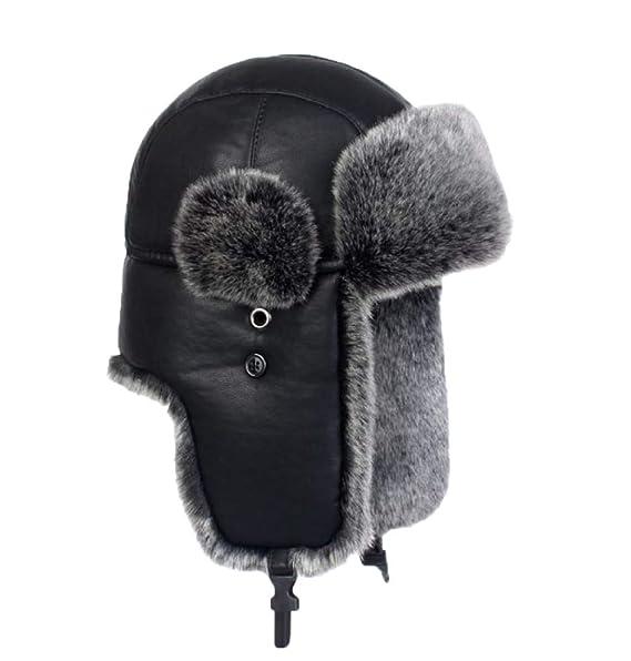 GDFME Sombrero De Aviador Sombrero De Piloto Hombres Adultos Winter Trooper Trapper Caza Sombrero: Amazon.es: Ropa y accesorios
