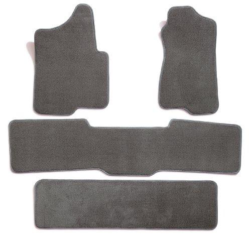 Premier Custom Fit 4-piece Set with 2 piece front 1 midrunner and 1 rearrunner Carpet Floor Mats for Chevrolet Traverse (Premium Nylon, Gray)