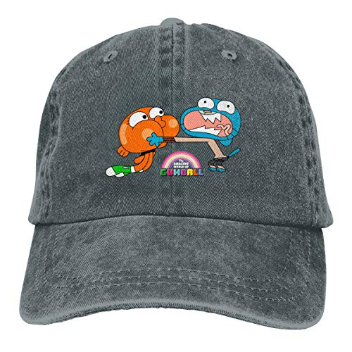 Jeans Hat The Amazing World of Gumball Brother Baseball Cap Sports Cap Adult Trucker Hat Mesh Cap Deep Heather -