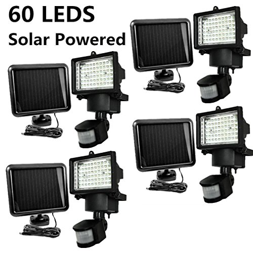 Widescreen Cooler (4 PACK 60 SMD LEDs Outdoor Solar Motion Sensor Security Flood Light Spot 80 100@)