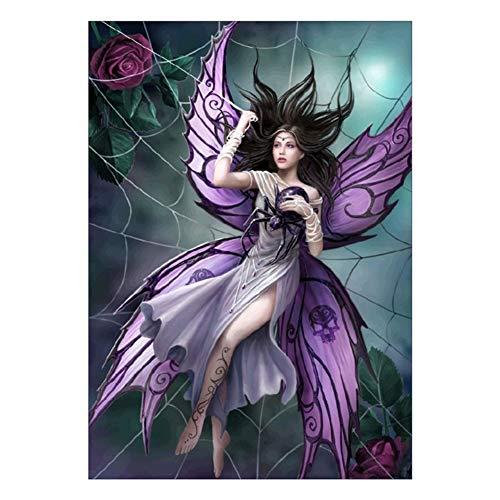 lightclub Butterfly Fairy Spider Web Full Diamond Painting Cross Stitch Kit DIY Wall Decor E099]()
