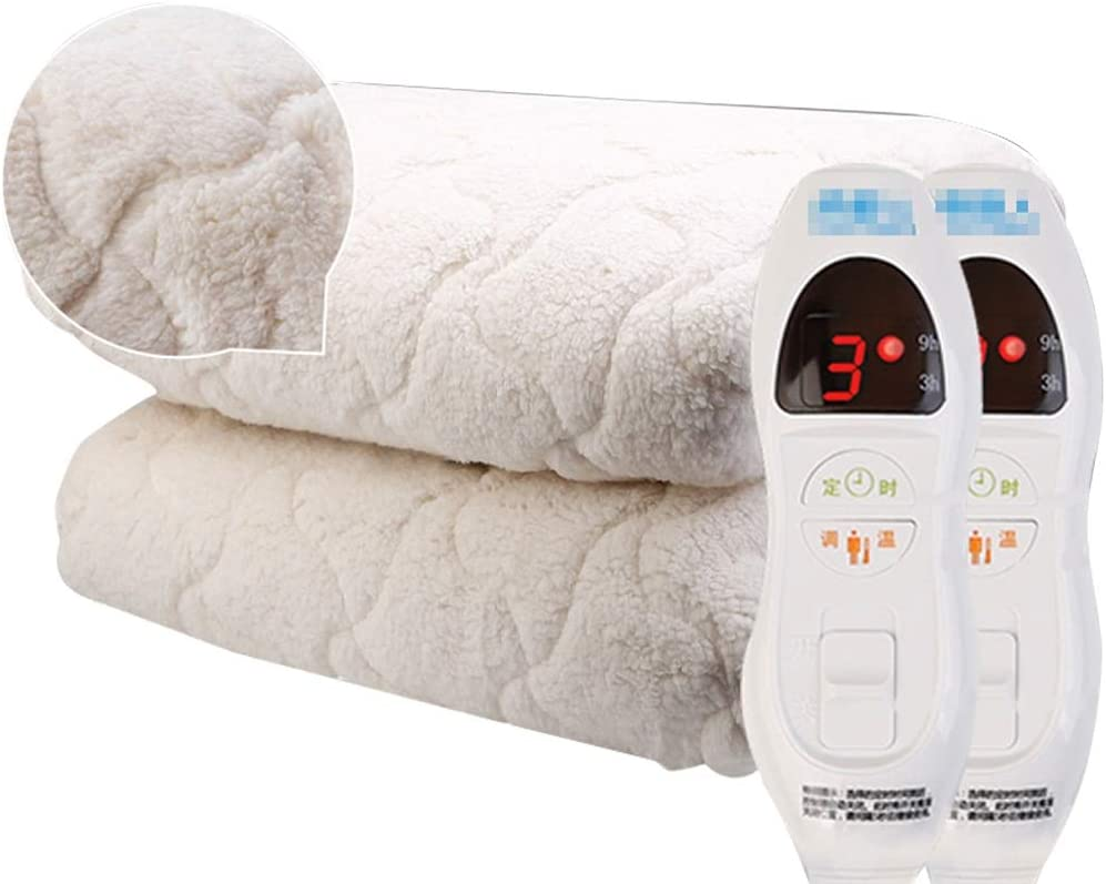 Pure Warmth Quilted Sherpa Electric Heated Mattress Pad