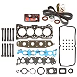 Evergreen HSHBTBK8008 Head Gasket Set Head Bolts Timing Belt Kit 92-01 Geo Suzuki Chevrolet 1.6 G16KV
