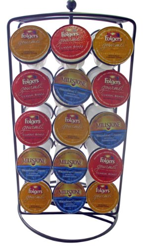 Southern Homewares K-Cup Carousel Keurig Cup Holder for 30 Coffee Pods Southern Aluminum Finish