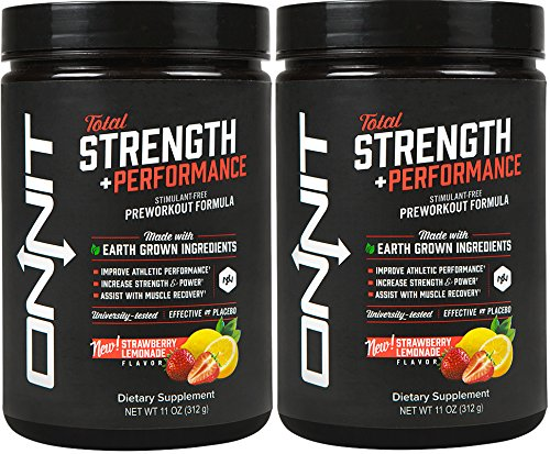 Onnit Total Strength and Performance - Stimulant-Free Pre-Workout Supplement - Strawberry Lemonade (60 Servings) by ONNIT