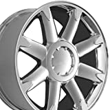 20x8.5 Wheels Fit GM Truck and SUV - GMC Denali Style Chrome Rims, Hollander 5304 - SET