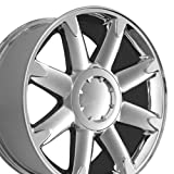 yukon denali 2014 - 20x8.5 Wheel Fits GM Trucks and SUVs - GMC Yukon Denali Style Chrome Rim, Hollander 5304