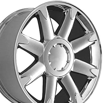 20x8.5 Wheel Fits GM Trucks and SUVs - GMC Yukon Denali Style Chrome Rim, Hollander 5304