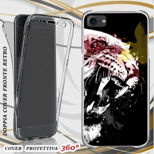 CUSTODIA COVER CASE TIGRE PAPUA NUOVA GUINEA PER IPHONE 7 FRONT BACK