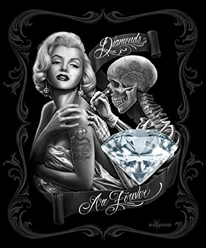 Marilyn Monroe Diamonds are Forever Queen Size Luxury Royal Plush Blanket 79x95 Inches ()