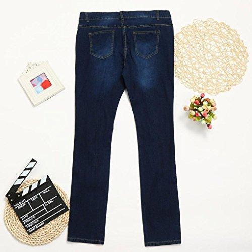 conqueror Slim Bleu Plus Haute Ripped Pants Femmes Jeans Pantalons Denim Stretch Skinny Taille Size fUrqfgS