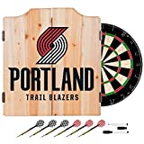 NBA Portland Trail Blazers Wood Dart Cabinet Set
