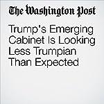 Trump's Emerging Cabinet Is Looking Less Trumpian Than Expected | John Wagner,Sean Sullivan