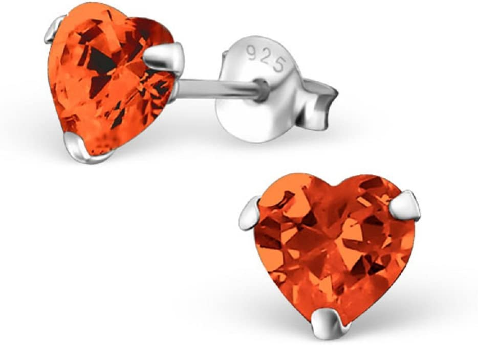 Details about  /ICYROSE Sterling Silver Oxidized Heart Crystal CZ Women Stud Earring 2963