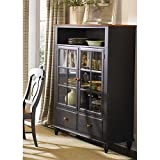 Liberty Furniture Low Country Curio Cabinet in Anchor Black