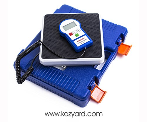 Kozyvacu 220lbs Digital Electronic Refrigerant Charging Scale For HVAC and Auto AC with Portable Carrying Case and LCD Display, A Weight Scle Works for both R134a and R410a